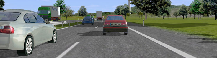 The picture shows a route images of the driving simulator